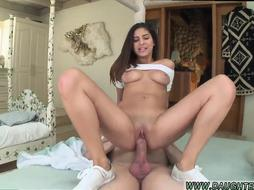 Teen slut earns Nina gets her hairless little slit and