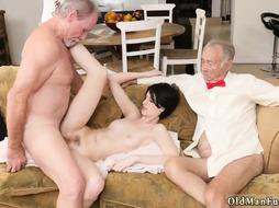 Teen is Fucked by two Old men