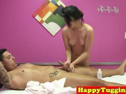 Teenage asian masseuse gets pounded
