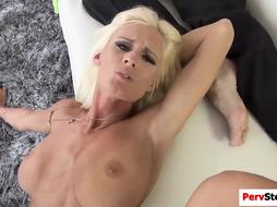 Pervert stepmom gets her tight pussy banged