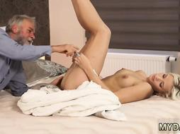 Teen fucks old guy Surprise your gf and she will bang