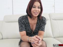 Busty therapist MILF stepmom hard fucked by a stepson