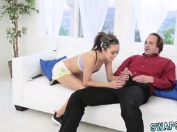 Teen babe perfect tits and old man very hairy The