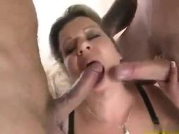 Gorgeous finnish stepmom threesome