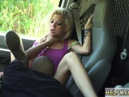 Teen amateur blonde tied xxx Halle Von is in town on