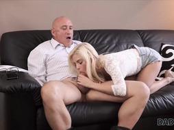 Teen blonde slut is fucking hard