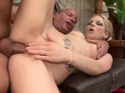 Hot blonde slut is getting banged