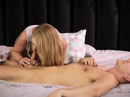 Blonde woman is fucking her stepson
