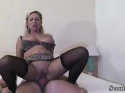 German milf giving free sex lessons