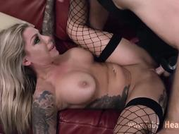 Tattooed woman got down and dirty with her young friend