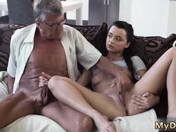 I want to fuck my daddy and old woman first time What