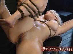 Big-breasted blondie punished