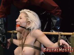 Hardcore brutal dp Big-breasted platinum-blonde beauty