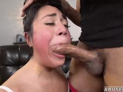 Petite gag Rough rectal hump for Lexy Bandera's