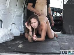 Girl Fucked Hard in a Van