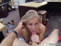 Blonde Teen BLows Dick like Crazy