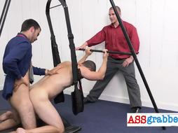 Monster cock drilling small ass
