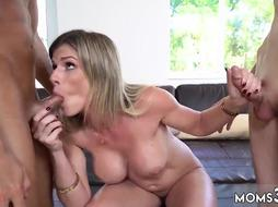 Public blowjob swallow xxx Stepmom Turns Wet Dreams