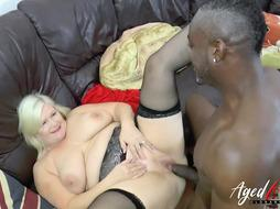 AgedLovE Lacey Starr Fucks Black Guy