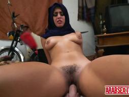 Horny arab dude cant wait to fuck whore