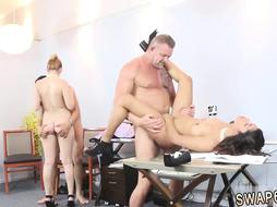Chinese fat daddy Fucking and deepthroating all over