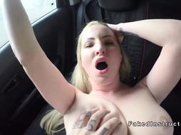 Fake driving instructor fucks busty blonde