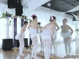Group ass fuck Ballerinas