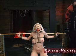 Bondage submission anal first time Big-breasted blond