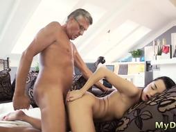 Nice and slow she is fucked Hard