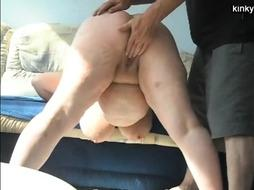 fisting and spanking my fat whore