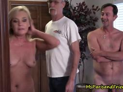 Blonde woman is having a Private Party