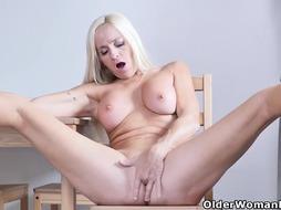 Dani is rubbing her wet pussy