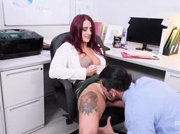 Tana Lea is a smoking hot, red haired milf who likes to have sex, even at work