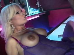 Beautiful blonde woman from the night club, Victoria is about to have anal sex with a client