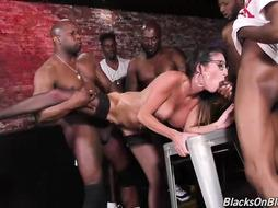 Dava is getting gangbanged by some hot Black Guys