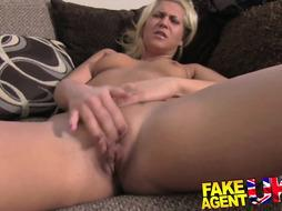 Spectacular hungarian girl gets buttfuck on the audition sofa