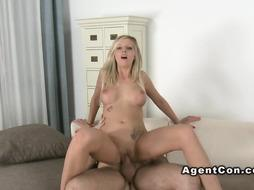 European platinum-blonde porked on audition