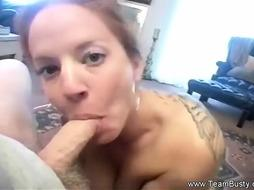 Red-Haired Chloe COUGAR Blowage - PornGem