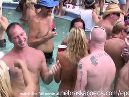 Nasty Soiree Cougar Nude Pool Soiree