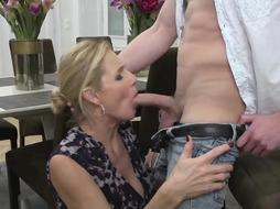 Blonde Milf is Blowing Dick like a Pro