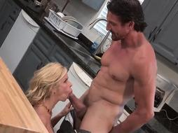 Alexis Fawx is about to suck a big dick