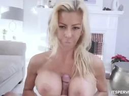 Sexy Blonde MILF got fucked POV style