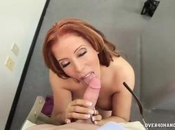 Mexican woman is showing her massive tits