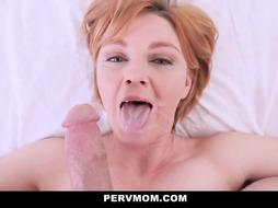 Horny wife is fucking her stepson
