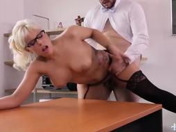 Hot babe is having sex with her doctor