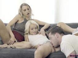 2 Teens are showing a good guy how they can behave when being wet