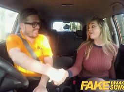 Busty girl is fucking in s cab