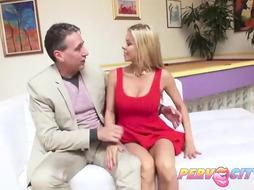 Big tited milf is fucking, on the sofa
