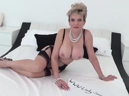 Busty woman is sucking dick