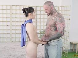 Japanese brunette is fucked real Good
